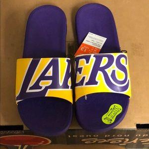 nike lakers slippers